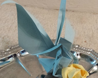 Blue origami fairy