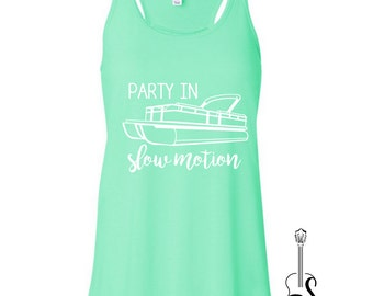 Party in Slow Motion Pontoon - Ladies' Tank