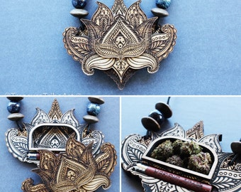 The Lotus Stash Pendant W/One Hitter (Ryot Digger)