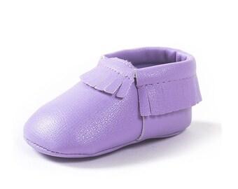 Baby mocossins light purple