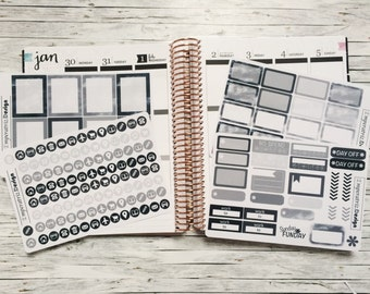 Black/grey sticker for eclp,filofax,planner