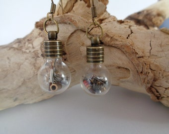 "Steampunk earrings ""Light bulb"""
