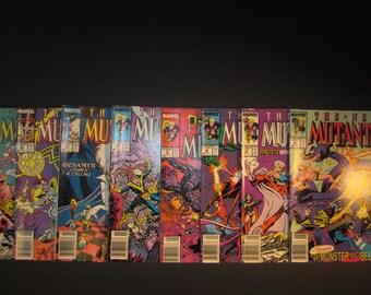 The New Mutants marvel comics Vol. 1 1988-89, #65,#66, #68, #69, #71, #74,#75,#76, all VF/VF+ nice copies