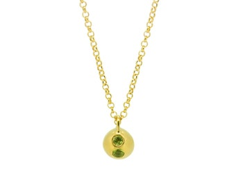 Personalised Peridot Birthstone Orb Necklace