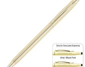 Personalized Cross Classic Century 10 Karat Gold Rolled Ballpoint Pen, Grooms Gift, Graduation, Engraved Gift.   Free Shipping! 4502