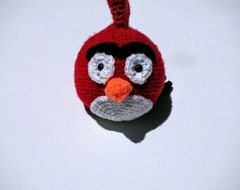 Handmade crochet red angry bird