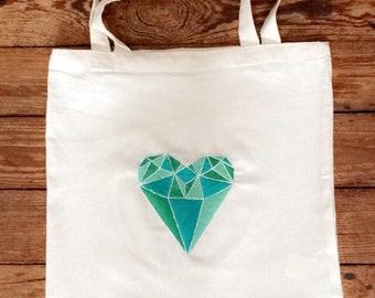 Embroidered tote bag has hand
