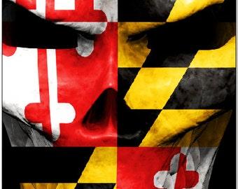 Maryland Flag Skull Cornhole Wrap Bag Toss Decal Baggo Skin Sticker Wraps