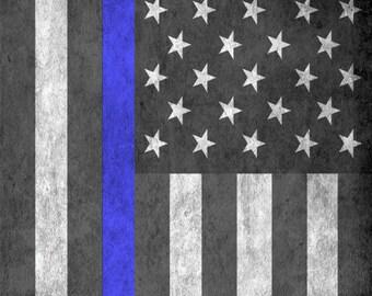 Police Flag Cornhole Wrap Bag Toss Decal Baggo Skin Sticker Wraps