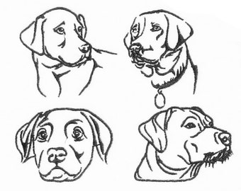 Labrador Retriever Lab Embroidery Designs