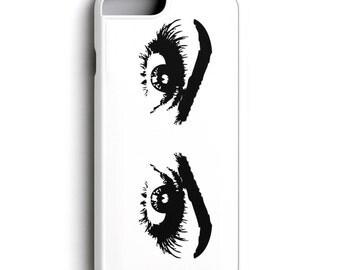 Woman's Eyes Unique Phone Case for iPhone 5/5S, 6/6S, 6 Plus/6S Plus, iPhone 7/7+