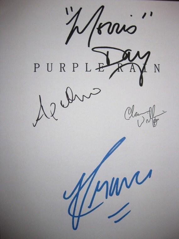 Purple Rain Signed Film Movie Script Screenplay X4 Autograph Prince Morris Day Apollonia Kotero Clarence Williams III signature musical