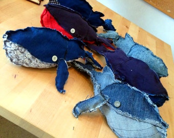Handmade Recycled Whale Toy (All funds go to Sealife Charity!