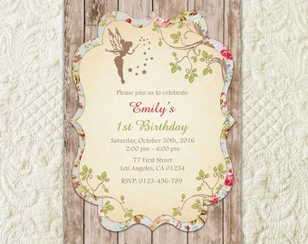 Fairy Invitation, Woodland Fairy Invitation, Enchanted Forest Fairy Invitation, Garden Fairy Party Invitation, Woodland Fairy Birthday
