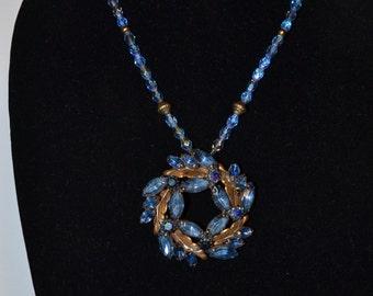 Vintage Blue Necklace  (#12)
