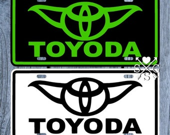Toyoda Star Wars Yoda License Plate Toyoda Car Tag