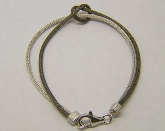 RCI sterling silver love knot bracelet
