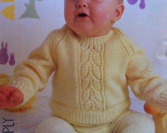Baby Sweater Knitting Pattern. PDF Instant Download.