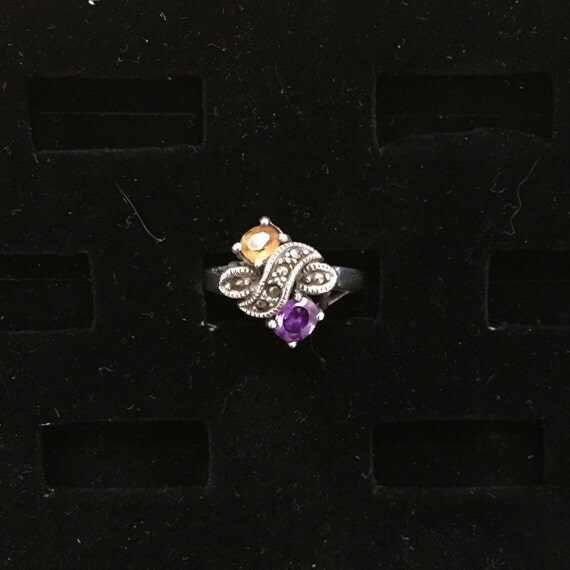 Amethyst & Citrine Ring