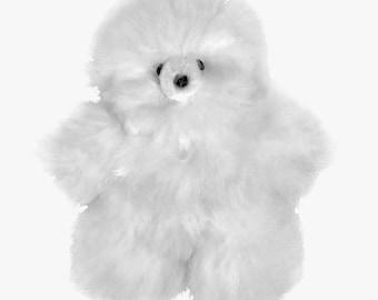 Alpaca Fur Teddy Bear - 15CM