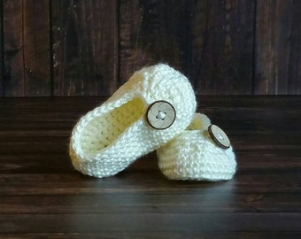 Crochet Shoes, Toddler Shoes, Baby Slippers, Infant Booties, Crochet Slippers, Cream Slippers, Baby Shower Gifts, Mary Jane Shoes,