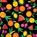 Viva Brazil - Passion Fruit Black by Maria Kalinowski from Kanvas Studios for Benartex