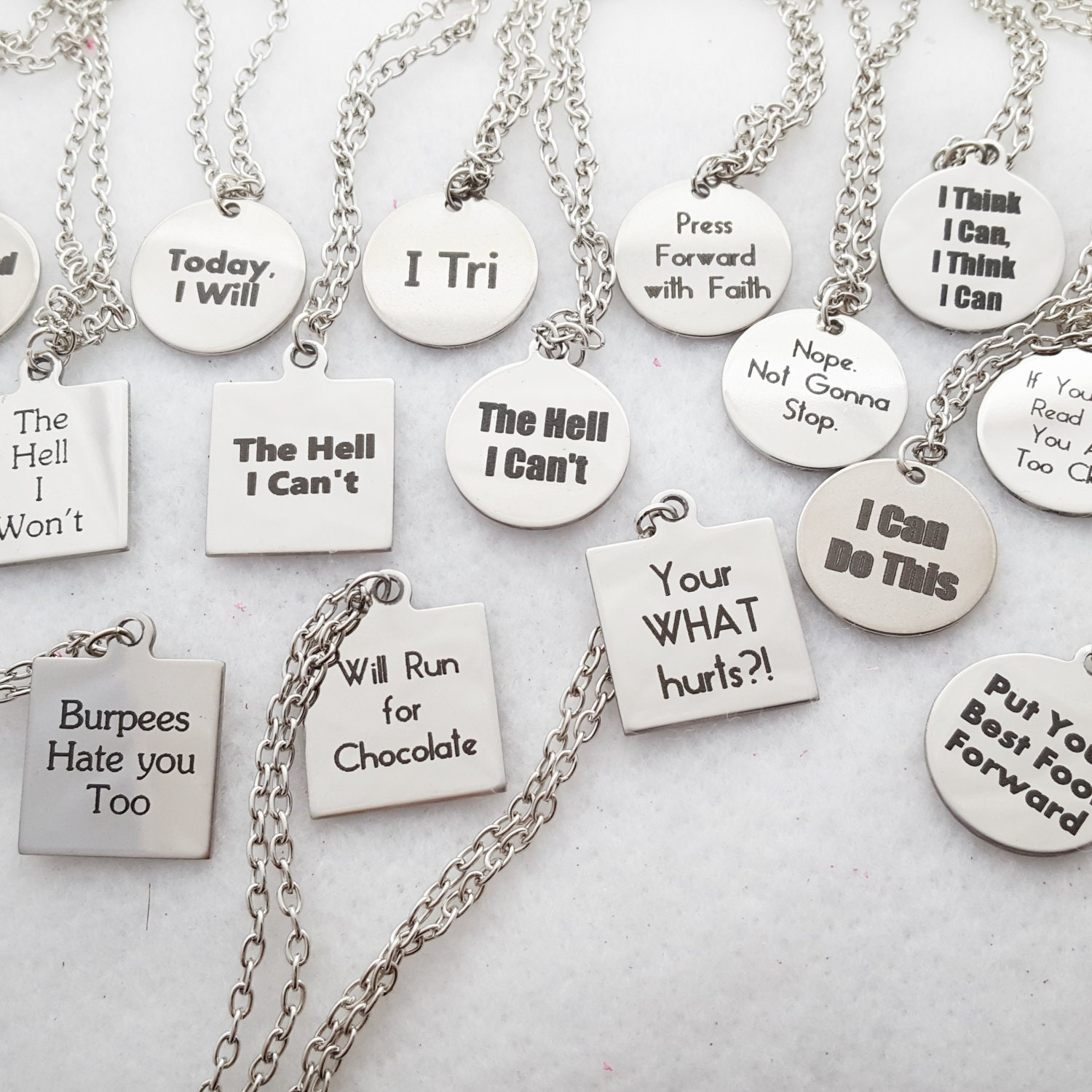 Crossfit Quotes Fitness Jewelry Crossfit Necklace Sports Charms Workout Gifts
