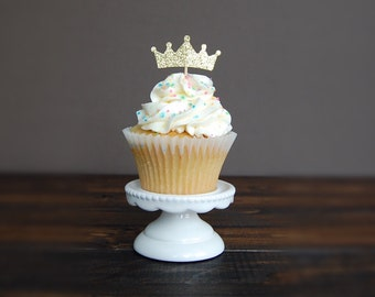 Crown cupcake toppers, birthday decorations, cupcake toppers birthday, wedding cupcake toppers, party decorations, princess birthday