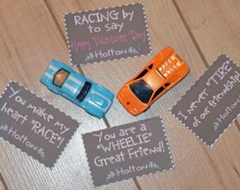 Custom Racecar Valentines