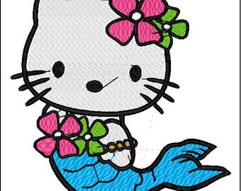 Hello Kitty: Mermaid Embroidery Designs