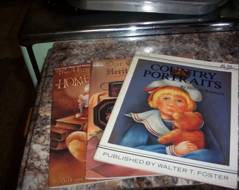 Lot- 3 Vintage Painting Books by Various artists see listing