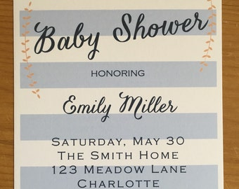 Baby shower Invitation *digital file only*