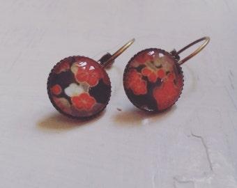 Japanese flower earrings