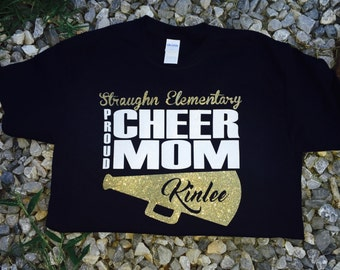 Cheer supporter tee shirt, cheer tee, cheer squad tee