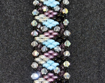 Beautiful bracelet with swarvoski crystals added for finishing touch.