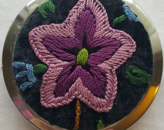 Handmade Palestinian Embroidery Compact Mirrors