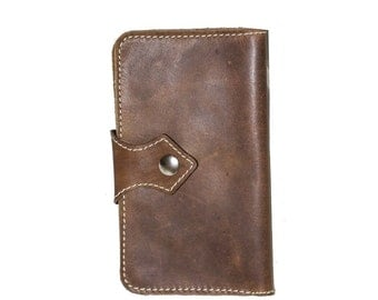 Hand made Brown Leather Tobacco Pouch | Tobacco Wallet
