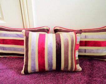 Handmade Rectangle Striped Chenille Cushions