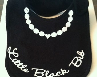 Little Black Bib, Baby Necklace, Fun Baby Bib SVG Cut File, Vinyl Cutting File, Design for digital cutting machines