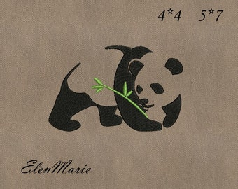 Panda - Machine Embroidery Design