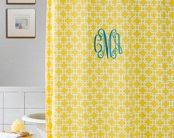 Yellow Metro Shower Curtain