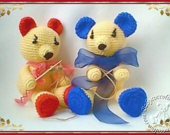 Amigurumibärchen, Bärchenpärchen, knitting teddy bears