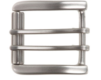 "1 1/2"" (38 mm) Nickel Free Double Prong Square Roller Belt Buckle(265340)"