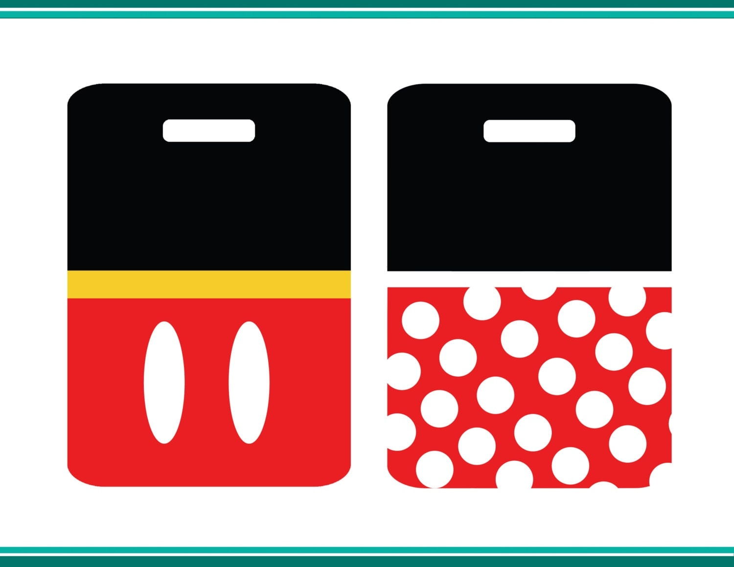 Mickey and Minnie Mouse Luggage Tags by ohiomadegraphics ...