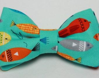Fish Nautical Boy's Bow Tie