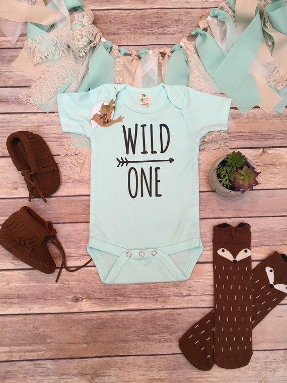 WILD ONE Baby Bodysuit Boho Baby Clothes Baby Boy Clothes