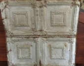 Salvaged Tin Ceiling Tile, Tin Tiles, Wall Hanging