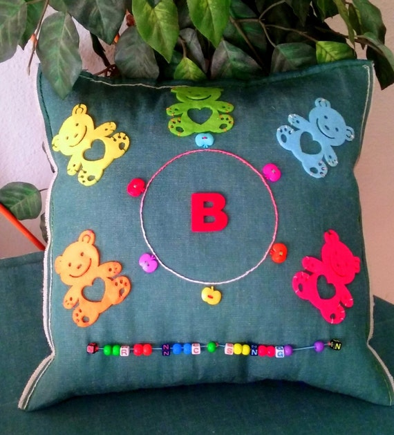 Items similar to Kids pillow Baby cushion Animal pillow Nursery decor Bedding baby shower gift ...