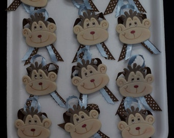 Monkey Baby Shower Ribbons