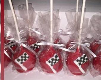 Race Car Flag Cake Pops